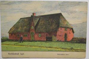 Nordseebad Sylt Landsturm Rendsburg Zensur Tondern 1918 (42896)