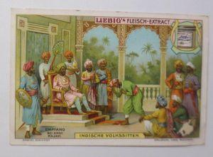Liebig, Serie 645, Indische Volkssitten, Empfang bei einen Rajah  ♥