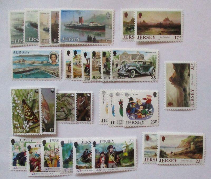 Jersey Jahrgang 1989 postfrisch komplett auf Steckkarte (ohne MH) (57470)