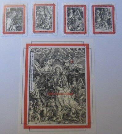 Turks & Caico I. Block 128 Marken 1116, 1123, 1117, 1118, A. Dürer 1993 ♥(62294)