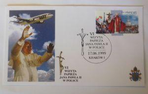 Papst Johannes Paul II.  Sonderbrief Polen 1999 ♥ 8294