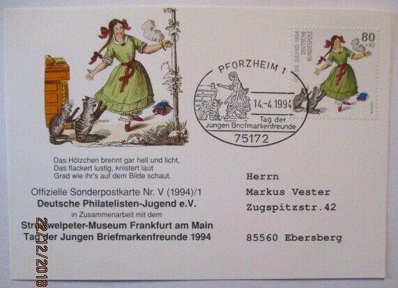 Wilhelm Busch, Struwelpeter, Paulinchen, Pforzheim 1994 (45182)
