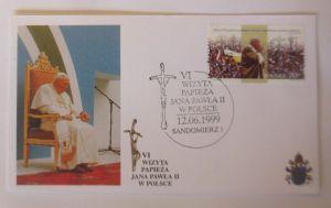 Papst Johannes Paul II.  Sonderbrief Polen 1999 ♥ 50337