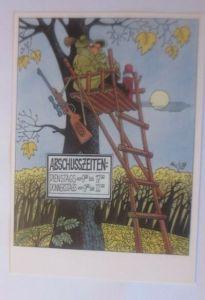 DDR Privat Ganzsache X Kunstausstellung,Louis Rauwolf Abschußzeiten 1987♥ 14624)
