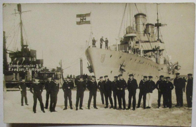 Reichsmarine Kreuzer Nymphe Fotokarte 1929 (49923)