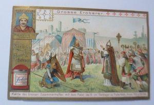 Liebig, Serie 562, Große Eroberer, Karls des Großen treffen Papst Leo ♥