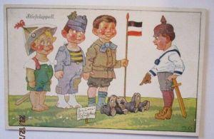 Kinder WW 1, Stiefelappell, Feldpost 6. LWD Maschinengewehr-Abt. (25559)