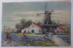 Künstlerkarte, Landschaft, Windmühle, Haus,  1918, Meissner & Buch ♥ (28531)