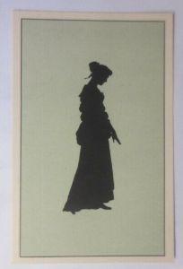 Künstlerkarte, Scherenschnitt, Frauen,  1910, Paul Konewka  ♥ (18604)
