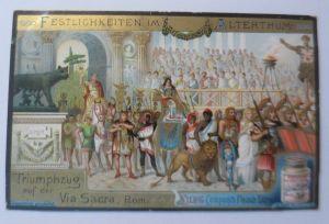 Liebig, Serie 449, Festlichkeiten im Alterthum, Triumphzug Rom ♥