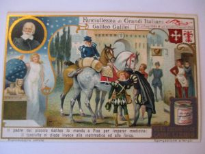 Liebig Sammelbild, Italien, Galileo Galilei