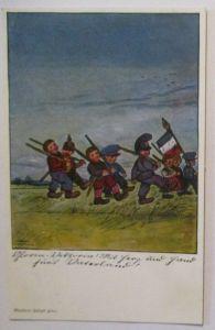 Kinder WW 1, Gloria Viktoria Der Deutsche Kampf , Verlag Wiechmann 1914 (27974)