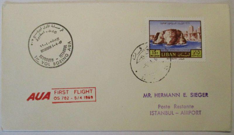Flugpost, Luftpost, Libanon, AUA 1969 (32240)