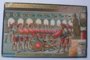 Liebig, Serie 449, Festlichkeiten im Alterthum, Pyrrhischer Tanz, Sparta♥