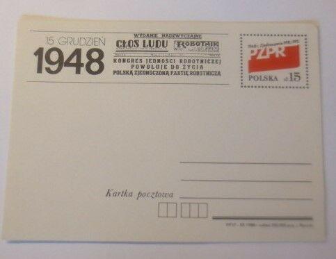Polen Sonderganzsache Jahrestag des Großpolenaufstandes 1988  ♥  (72448)