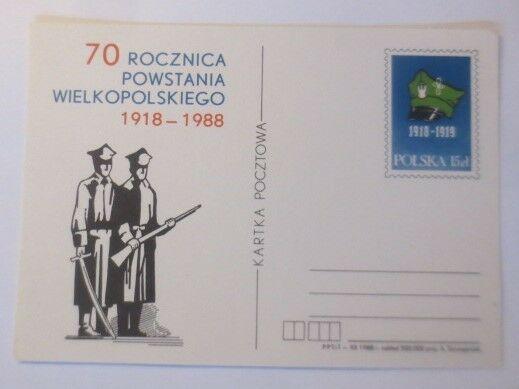 Polen Sonderganzsache Jahrestag des Großpolenaufstandes 1988  ♥  (71565)