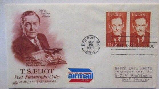 Literatur, TS Elliot FDC USA 1986 (9714)