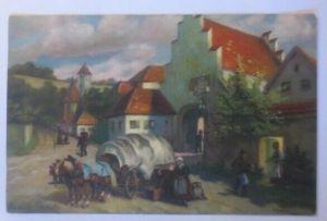 Künstlerkarte, Der Botenfuhrmann, 1920, Meissner & Buch, Paul Götz ♥ (27021)