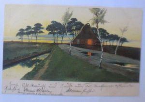 Künstlerkarte, Landschaft,  1901, Meissner & Buch, E. Köster ♥ (21017)