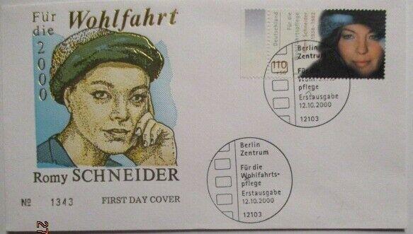 Film Schauspieler, Romy Schneider FDC 2000 (47797)