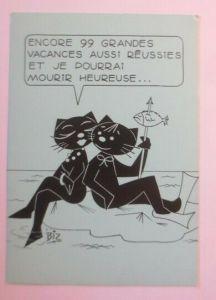 Katzen, Strand, Meer, Fisch,   1980, Biz ♥ (72766)