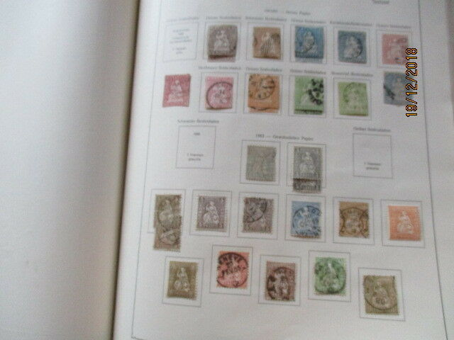 Schweiz, umfangreiche alte Sammlung im Album Block 1 usw.