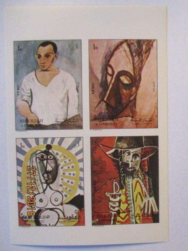 Sharjah, 1316-1319 Block Kunst Gemälde Picasso postfrisch (5571)