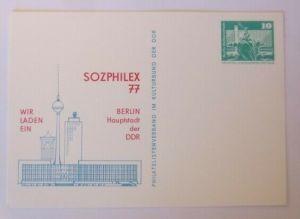 DDR Privatganzsache Sozphilex  Berlin 1977   ♥ (72556)