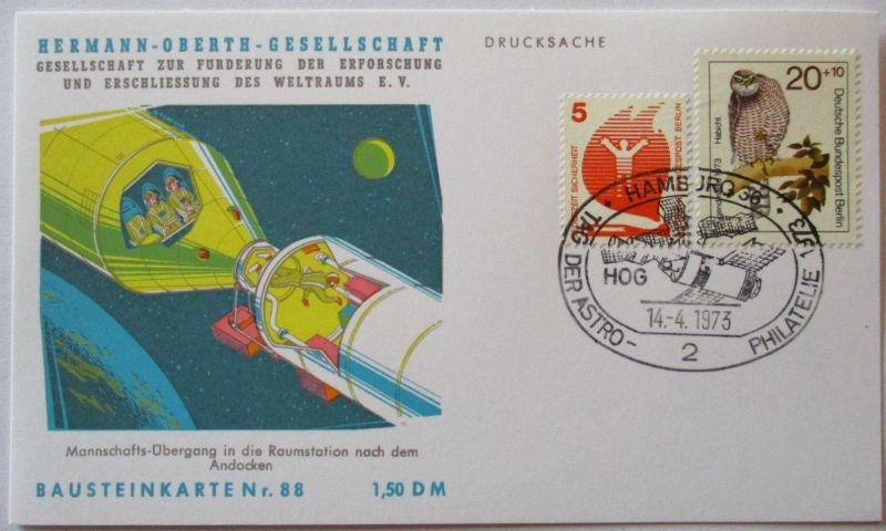 Raumfahrt, Hermann Oberth Gesellschaft, Bausteinkarte 88