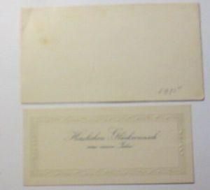 Glückwunschkärtchen Neujahr 13 cm x 7 cm, Jahr 1902  ♥  (19155)