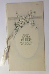 Glückwunschkärtchen, Klappkarte zur Verlobung, Jugendstil,  1921 ♥ (42877)