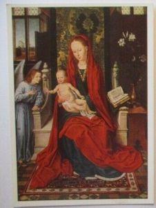 Kunst, Wiechmann Bildkarte, Hans Memling, Madonna mit Kind (27561)