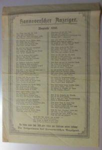Neujahr Jahr 1916 Hannoverscher Anzeiger Neujahr Gedicht  ♥(66F)