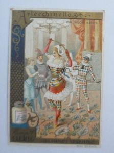 Liebig, Serie 249, Italienische Masken, Arlecchinella  ♥