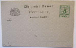 Bayern, Doppel-Ganzsache P 40/02 ungebraucht (61543)