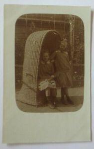 Foto, Strandkorb, Kinder, Mode, 1915, Feldpost Dessau ♥ (44805)