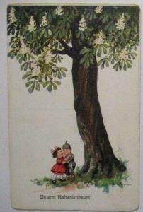 Kinder WW 1, Unterm Kastanienbaum, sign. (16664)