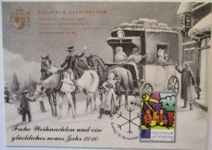 Weihnachten, Postkutsche, Liechtenstein 2010 (26714)