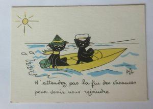Katzen, Sonne, Meer, Boot,     1945, Biz  ♥