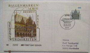 Bundesrepublik Deutschland 1837 Sehenswürdigkeiten FDC (51543)