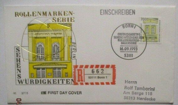 Bundesrepublik Deutschland 1691 Sehenswürdigkeiten FDC (11630)
