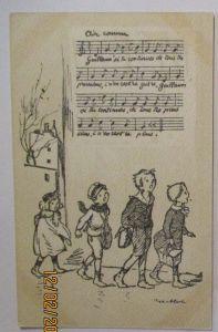 Kinder WW 1, Frankreich singende Kinder , Poulbot Nr.47 (28245)
