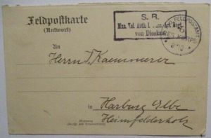 Frankreich, Reionville ? Feldpost 6. Res.Korps Art.Reg. von Dieskau 1914 (35381)
