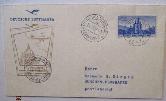 Lufthansa Erstflug 1958, Rom München, Vatikan 1958 (44646)