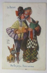 Clown, Frauen, Hund, Little Pitche   1919 ♥ (71277)