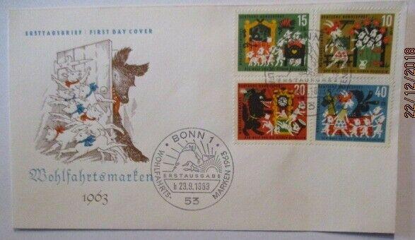 Märchen Der Wolf und die 7 Geisslein FDC Deutschland 1963 (51033)