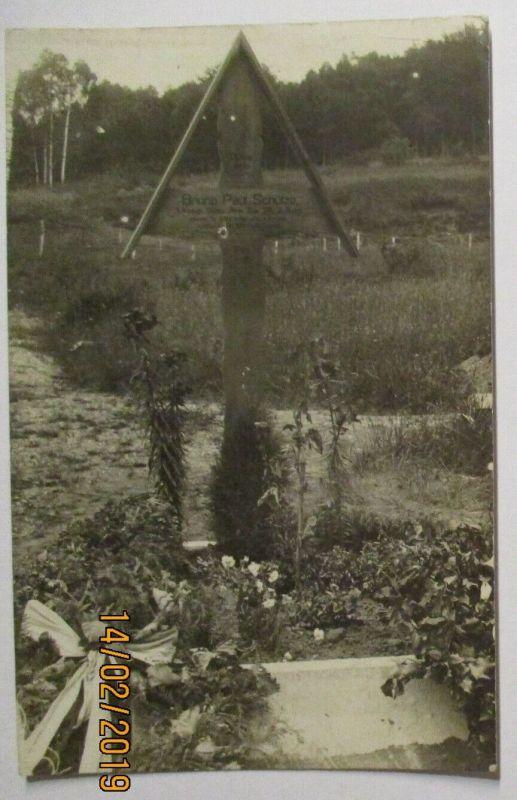 Frankreich St. Sauveur Soldatengrab Bruno Paul aus Bannewitz bei Dresden (17114)