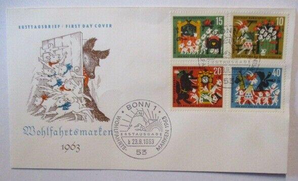 Märchen Der Wolf und die 7 Geisslein FDC Deutschland 1963 (50941)