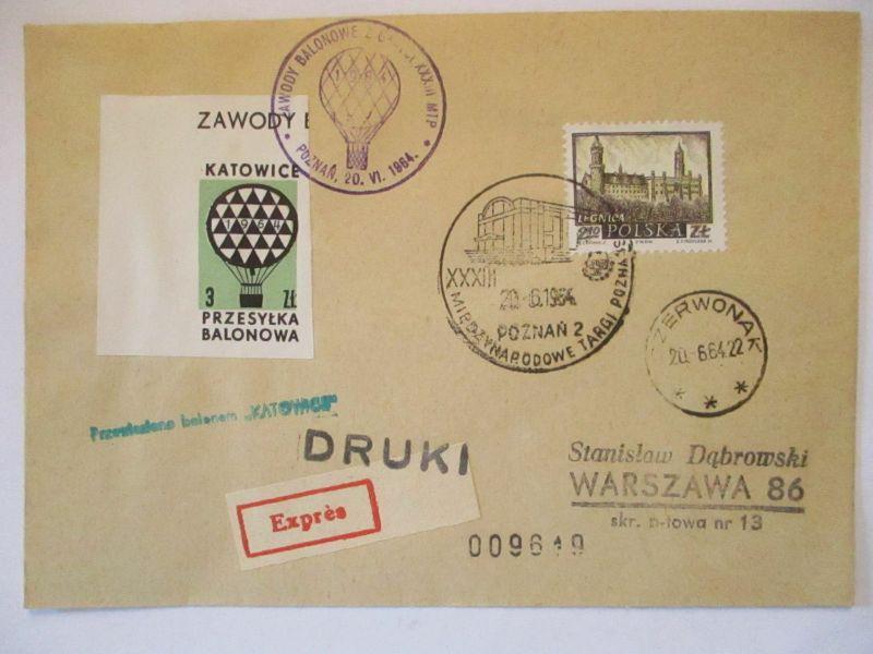 Polen, Ballonpost 1964  57481