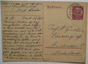 Deutsches Reich, Auslands-Ganzsache 1935 von Aachen in die Niederlanden (61463)